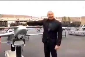 قدرتنمایی رئیسجمهور آذربایجان با پهپاد اسرائیلی/ چه پیامی به ایران داده شد؟+فیلم